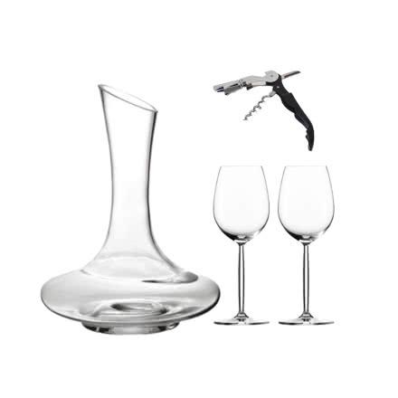 酒具大礼包(醒酒器*1+高脚杯*2+海马刀开瓶器*1)