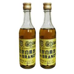 老酒 40°张裕金奖白兰地180ml(2瓶装)1996年
