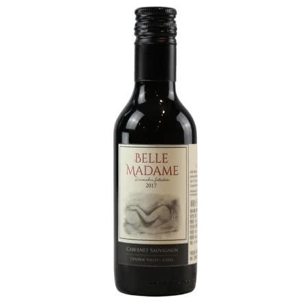 智利原瓶进口葡萄酒红酒干红进口红酒美丽女人小瓶装187.5ml