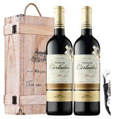 西班牙原瓶进口 DO级红酒干红葡萄酒 奥瑞安骑士礼盒套装 750ml*2