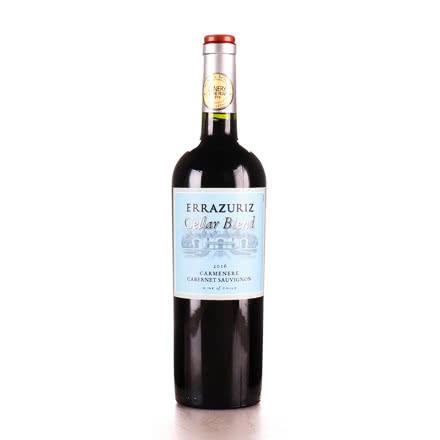 智利进口 Errázuriz 伊拉苏窖藏13.5°卡曼妮赤霞珠750ml干红葡萄酒