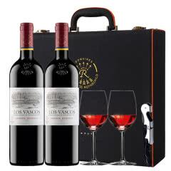 拉菲红酒 拉菲原瓶进口巴斯克花园珍藏干红葡萄酒红酒礼盒装750ml*2