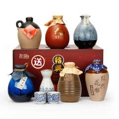 【送酒具】绍兴黄酒六瓶不同风味组合礼盒古越龙山古越太雕花雕酒