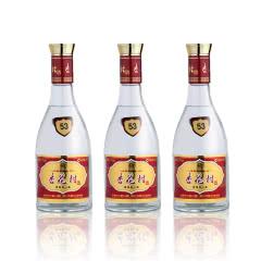 53°汾酒股份杏花村酒玻瓶 清香型山西特产国产白酒475ml*3瓶