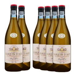 法国原瓶进口红酒 奥克产区 托斯世家干白葡萄酒750ml*6(整箱)