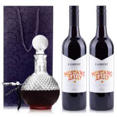 澳大利亚原瓶进口兰伯特野马莎莉设拉子干红葡萄酒750ml*2