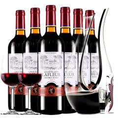 法国进口红酒拉斐天使葡园干红葡萄酒红酒整箱醒酒器装750ml*6