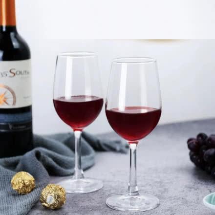 2支红酒杯礼盒家用无铅水晶玻璃高脚杯红酒杯葡萄酒杯香槟杯礼品