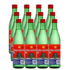 56°牛栏山二锅头白酒绿瓶绿牛二500ml(12瓶装)整箱