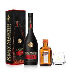 40°人头马RemyMartin VSOP优质香槟区干邑白兰地700ml+40°法国君度橙味力娇酒50ml+XO威士忌杯
