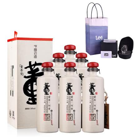 54°董酒何香750ml(6瓶裝)+LEE手表 復古潮流男表 (會員專享)