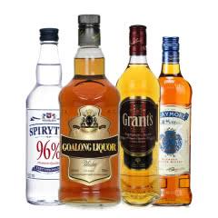 洋酒大礼包 生命之水伏特加+金樽威士忌+剑威威士忌+格兰苏格兰威士忌