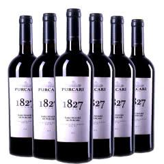 摩尔多瓦原装进口普嘉利(PURCARI)1827黑拉雅干红葡萄酒750ml(6瓶)整箱
