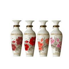 52°杜康牡丹文化礼品酒洛阳红MD6浓香型白酒318ml*4瓶礼盒装