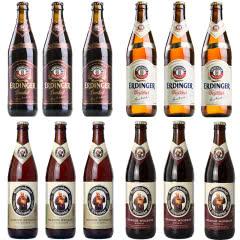 德国进口啤酒 艾丁格 白/黑 教士 白/黑 精酿啤酒组合 500ml*12瓶