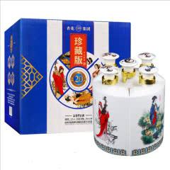 53°山西杏花酒业集团四大美女清香型白酒300mL*5瓶装礼盒酒