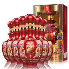 52度西凤酒 凤天成运福天成 浓香型婚宴酒 送礼酒 白酒整箱500ml(6瓶)