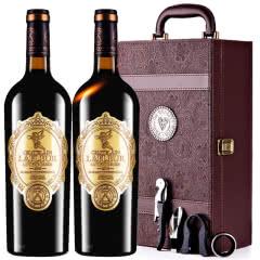 法国进口红酒拉斐天使庄园干红葡萄酒红酒双支礼盒装750ml*2
