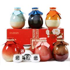 【买赠酒具】绍兴黄酒桃花醉糯米花雕酒不同酒风味组合半甜型500ml*6瓶整箱礼盒装送礼包邮