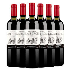 法国进口红酒 罗纳河谷小产区AOP级干红葡萄酒 750ml*6瓶整箱红酒