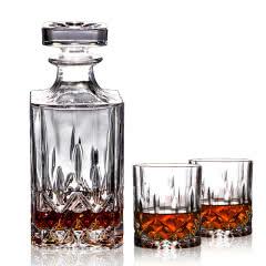 进口白兰地专用磨砂接口酒具(一樽两杯)