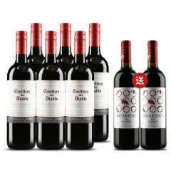 智利原瓶进口红酒 螺旋盖 干露红魔鬼葡萄酒 赤霞珠/卡本妮苏维翁 750ml*6