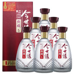 42°今世缘典藏5白酒500ml(6瓶装)