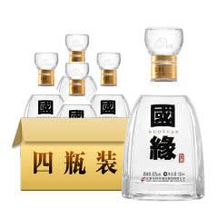 42°今世缘国缘四开商务宴请白酒500ml(4瓶装)