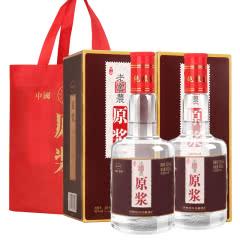 50°泸州产地老窖农原浆浓香型礼盒装白酒450ml(2瓶装)