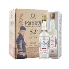 52度宝岛阿里山台湾高粱酒清香型白酒450ml*1箱6瓶