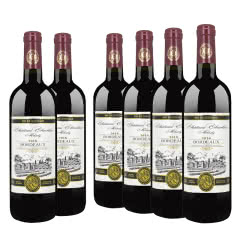 法国原瓶原装进口红酒 玛莎内酒庄AOP级波尔多干红葡萄酒 750ml*6瓶