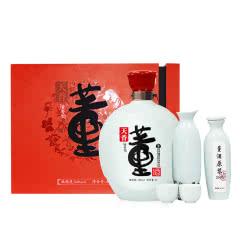 礼盒装董酒天香54度1L含原浆与精美酒具纯粮固态酿造白酒
