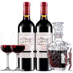 拉斐庄园2009珍藏干红葡萄酒双支红酒欧式醒酒器装750ml*2