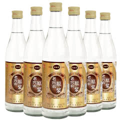 52°老窖农原浆酒浓香型光瓶白酒500ml(6瓶装)