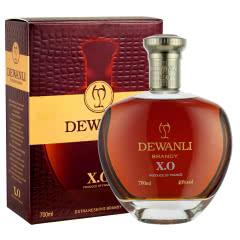 德万利(DEWANLI)男爵白兰地xo洋酒礼盒装 法国原液进口 700mlx1瓶
