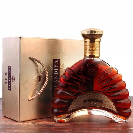 法国原酒进口GELANDIYA XO旗舰白兰地酒40度洋酒礼盒套装婚宴烈酒700ML单瓶