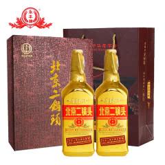 46°北京永丰牌二锅头出口型小方瓶金瓶500ml(2瓶装)礼盒装