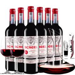 法国原瓶进口柏翠莫埃尔AOP级品酒师干红葡萄酒红酒整箱醒酒器装750ml*6