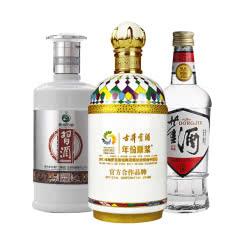 53° 习酒银质500ml+54°董酒密藏430ml+45°古井贡酒哈萨克斯坦750ml