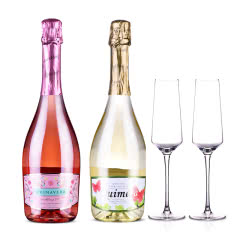 西班牙春梦半甜起泡葡萄酒套装+清雅香槟杯双支