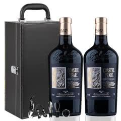 法国(原瓶进口)伯爵干红葡萄酒750ml*2礼盒装