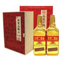永永丰牌北京二锅头清香型纯粮酒(出口型小方瓶)金瓶46度(豪华礼盒装)500ml*2瓶