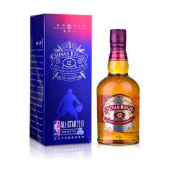 40°英国芝华士12年苏格兰威士忌500ml 2019NBA全明星限量版礼盒