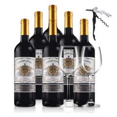 法国原瓶进口法国拉古缘纳酿酒集团金色天使赤霞珠干红葡萄酒750ml*6
