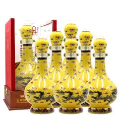 56°奥喜北京二锅头经典黄瓷小黄龙清香型白酒礼盒装500ml(6瓶)整箱