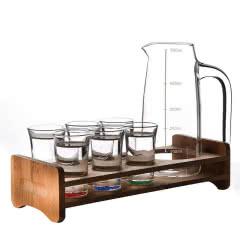 12杯水晶玻璃烈酒杯白酒杯套装一口杯云吞杯小脚杯酒吧ktv洋酒杯12孔架+12只酒杯15M