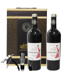 法国原瓶进口2014白宫夫人干红葡萄酒AOC等级750ml*2支(礼盒装)
