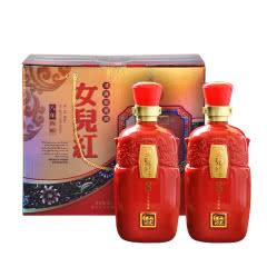 绍兴黄酒女儿红清爽花雕1000ml*2八年礼盒商务送礼月子酒糯米酒