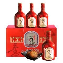 绍兴黄酒女儿红花雕酒500ml*4节日礼盒送礼年份酒礼品酒浙江特产