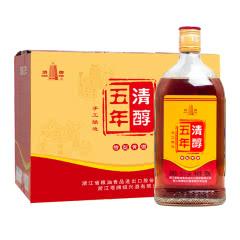 【品牌直营】塔牌绍兴黄酒五年清醇500ml*六瓶手工半干型加饭酒花雕酒特型黄酒